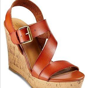 Mossimo Supply Co. Shoes - Mossimo Cognac Julie Cork Wedges. Size 8.5